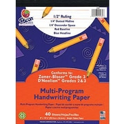 "Pacon® Zaner-Bloser™ D'Nealian™ Multi-Program Handwriting Tablet Paper, 8"" x 10-1/2"", 40 Sheets"