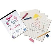 Pacon® Picture Story Ruled Newsprint Paper Pad
