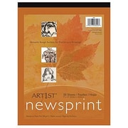 "Pacon® Art1st® White Newsprint Paper Pad, 18"" x 12"""