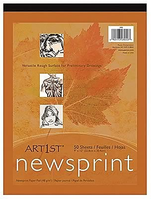 Pacon® Art1st® White Newsprint Paper Pad, 24
