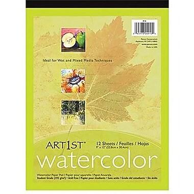 Pacon - Tablette artistique Art1st pour aquarelles, feuilles blanches, 14 po x 11 po, paq./48 (PAC4911)