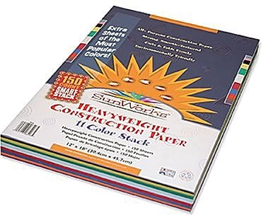 SunWorks® Smart-Stack ™ Construction Paper, 12x18