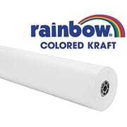 "Pacon® Rainbow® 100' x 36"" Colored Kraft Paper Roll, White"