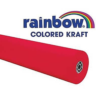 Pacon - Rouleau kraft coloré Rainbow, 100 pi x 36 po, rouge flamme