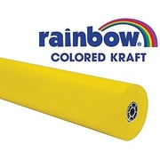 "Pacon® Rainbow® 100' x 36"" Colored Kraft Paper Roll, Canary"