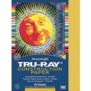 "Pacon Tru-Ray Construction Paper 12"" x 9"", Gold, 50 Sheets (PAC102997)"