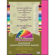 "Pacon Peacock Construction Paper 12"" x 9"", Hot Pink (PACP9209)"