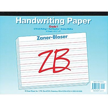 Pacon® Zaner-Bloser™ ™ Broken Midline Newsprint Tablet Paper Grades 1st