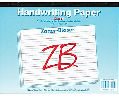 Pacon® Zaner-Bloser™ ™ Broken Midline Newsprint Tablet Paper Grades 1st, 10 EA/BD