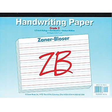 Pacon® Zaner-Bloser™ Broken Midline Newsprint Tablet Paper, Grades 2nd