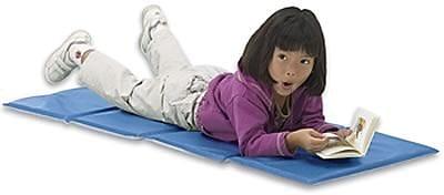 Toddler KinderMat Rest Mat, w/Pillow, Blue/Gray
