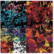 "Roylco® 7 1/2"" x 7 1/2"" Wonderful Watercolour Design Craft Paper, 4 Designs"
