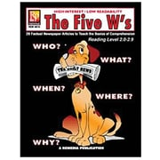 Remedia® The Five W's Book For Reading Level 5, Grades 4th - 12th