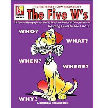 Remedia® The Five W's Book For Reading Level 1, Grade 4 - 12 (REM487F)
