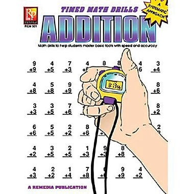 Remedia® Addition and Time Math Drill Book, Grades 3rd - 6th, 2/Set (REM501)