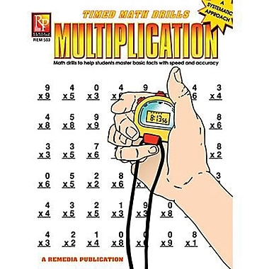 Remedia® Multiplication and Time Math Drill Book, Grades 2nd - 5th