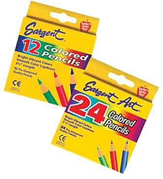 Sargent Art® Colored Pencils, 3-1/2