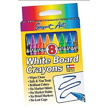 Sargent Art Standard Regular Whiteboard Crayon, 8/box, 96/Pack (SAR350521)