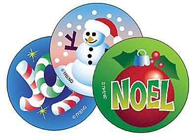 Trend® Stinky Stickers®, Large Round, Christmas Scented Peppermint