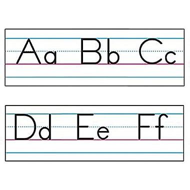 Trend Enterprises Bulletin Board Set, Basic Alphabet, Zaner-bloser Manuscript, 30/Pack (T-1858)