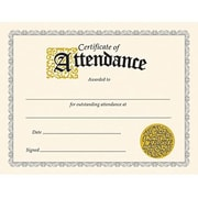 "Trend Enterprises Certificate Of Attendance, 8 1/2"" X 11"", 180/Pack (T-2566)"