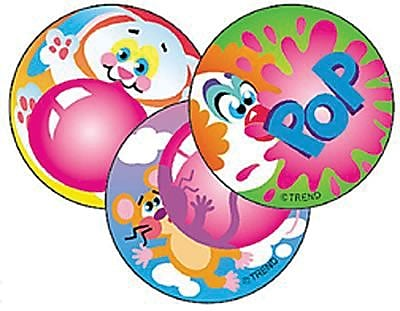 Trend® Stinky Stickers®, Large Round, Blowing Bubbles Scented Bubble Gum