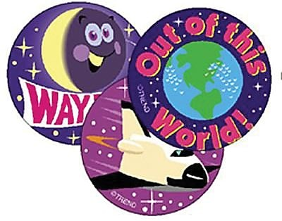 Trend® Stinky Stickers®, Large Round, Earth & Space Scented Grape