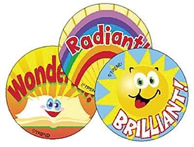 Trend® Stinky Stickers®, Large Round, Sun & Fun Scented Tutti-Frutti