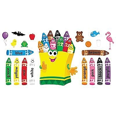 Trend Enterprises Bulletin Board Set, Colourful Crayons, 21/Pack (T-8076)