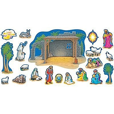 Trend Enterprises Bulletin Board Set, Nativity, 20/Set