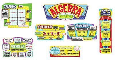 Trend Enterprises® Bulletin Board Set, Algebra Basics