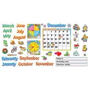 Trend Enterprises Bulletin Board Set, Monthly Calendar-Cling Wipe-Off, 104/Set