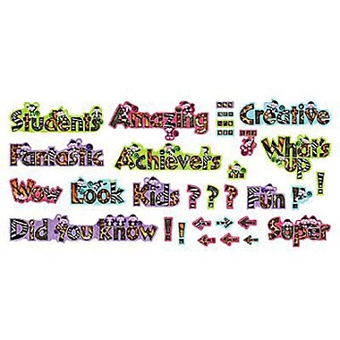 Trend Enterprises® Mini Bulletin Board Set, Monkey Wow Words Phrases
