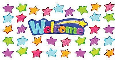 Welcome Stars Mini Bulletin Board Set, 34 pieces