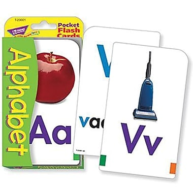 Trend Enterprises® Alphabet Pocket Flash Cards, Grades pre-kindergarten - 1st