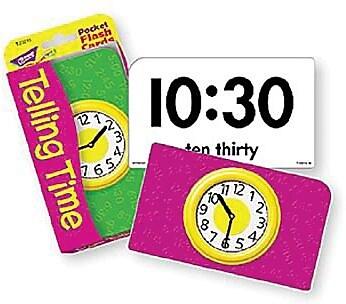 Trend Enterprises® Pocket Flash Cards, Telling Time