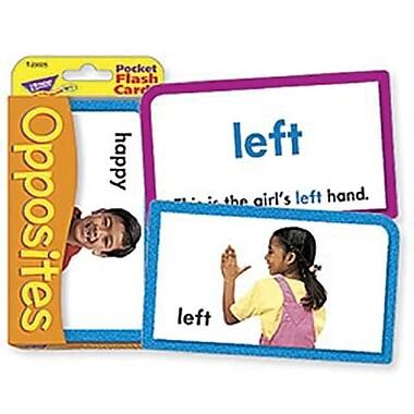 Trend Enterprises® Opposites Pocket Flash Cards, Grades Kindergarten - 2nd