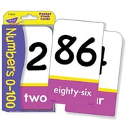 Trend Enterprises® Pocket Flash Cards, Numbers 0 - 100, 56/PK, 6 PK/BD