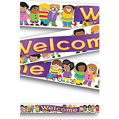 TREND T-25020 10' Straight Welcome TREND Kids Quotable Expressions Banner, Multicolor