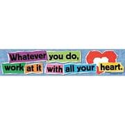 Trend Enterprises® Pre K-9th Grades Banner, Whatever You Do Work At It W/All Your Heart Colossians