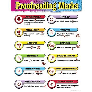 Trend Enterprises® Proofreading Marks Learning Chart