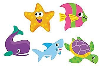 Trend® superShapes Stickers, Sea Life