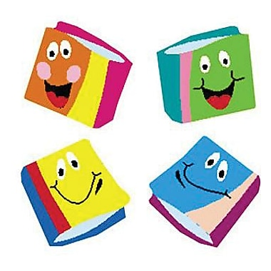 Trend® superShapes Stickers, Happy Books