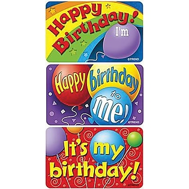 Trend Enterprises Applause Stickers, Birthday Time, 360/Pack (T-47303)