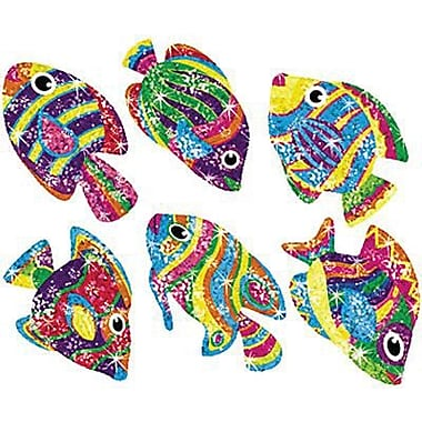 Trend Enterprises Sparkle Stickers, Flashy Fish, 864/Pack (T-63046)