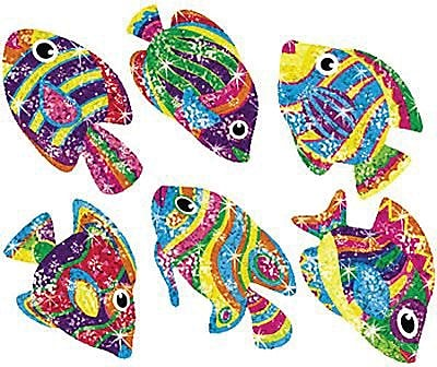 Trend Enterprises® Sparkle Stickers, Flashy Fish