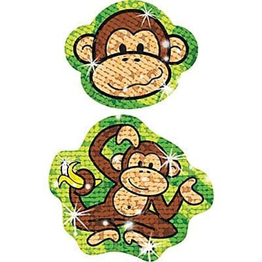 Trend Enterprises® Sparkle Stickers, Lively Monkeys