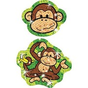 Trend Enterprises® Sparkle Stickers, Lively Monkeys