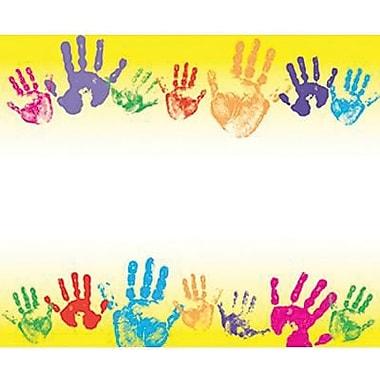 Trend Enterprises Kindergarten - 3rd Grades Name Tag, Rainbow Handprints, 288/Pack (T-68005)