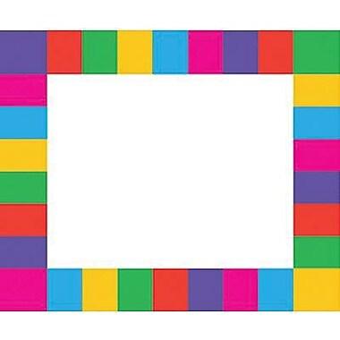 Trend Enterprises pre-kindergarten - 3rd Grades Name Tag, Rainbow Plaid, 288/Pack (T-68015)